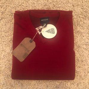 British Khaki Brand Men's Red Sweater XL